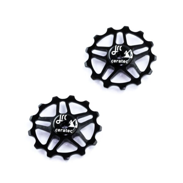 Kółka ceramiczne przerzutki JRC Components 13T do Shimano MTB 12 biegów - czarne /black/
