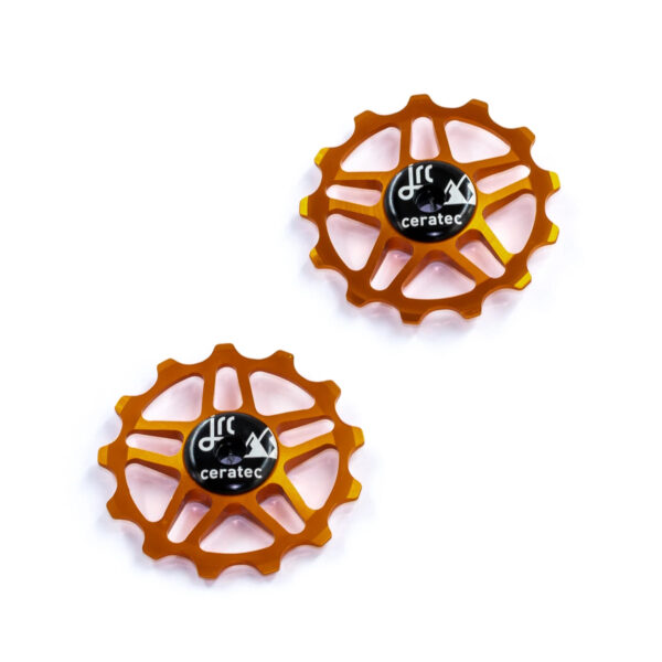 Kółka ceramiczne przerzutki JRC Components 13T do Shimano MTB 12 biegów - pomarańczowe /orange/