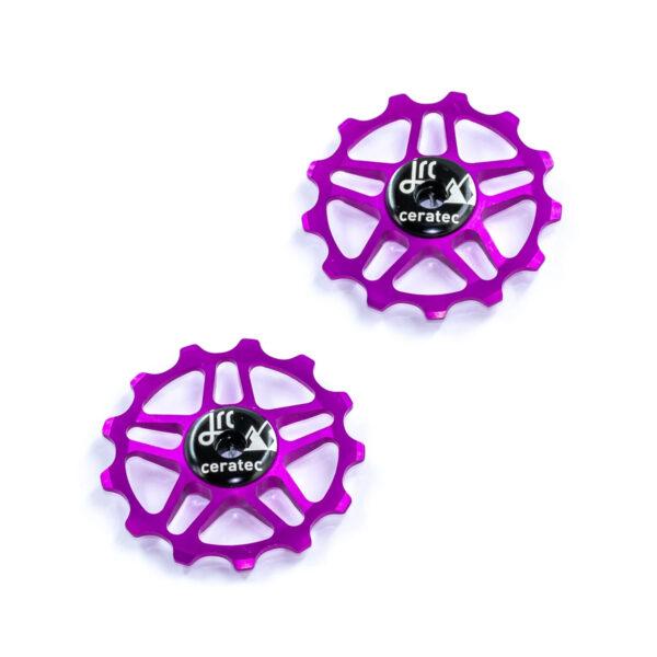 Kółka ceramiczne przerzutki JRC Components 13T do Shimano MTB 12 biegów - fioletowe /purple/