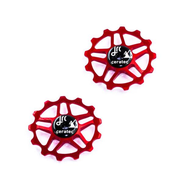 Kółka ceramiczne przerzutki JRC Components 13T do Shimano MTB 12 biegów - czerwone /red/