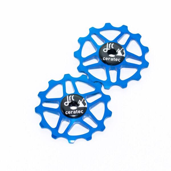 Kółka ceramiczne przerzutki JRC Components 13T do Shimano MTB 12 biegów - niebieskie /blue/