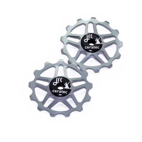 Kółka ceramiczne przerzutki JRC Components 13T do Shimano MTB 12 biegów - szare /gunmetal/