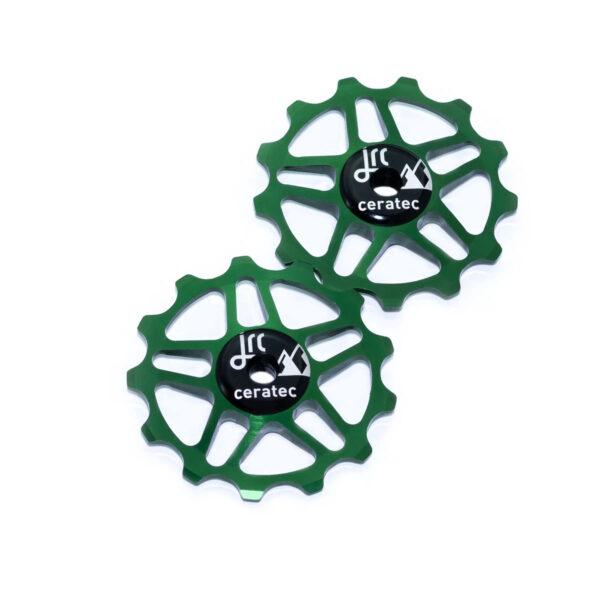 Kółka ceramiczne przerzutki JRC Components 13T do Shimano MTB 12 biegów - ciemno zielone /racing green/