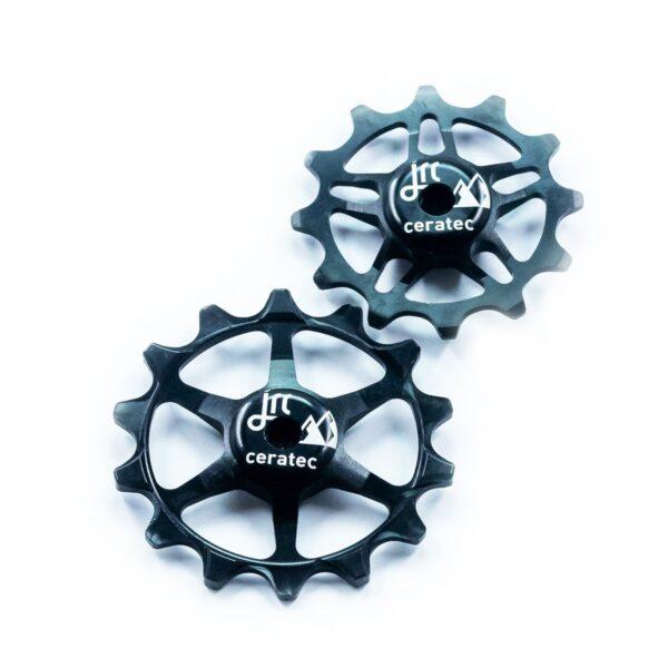 Kółka ceramiczne przerzutki JRC Components 14/12T do SRAM Eagle - czarne /black/