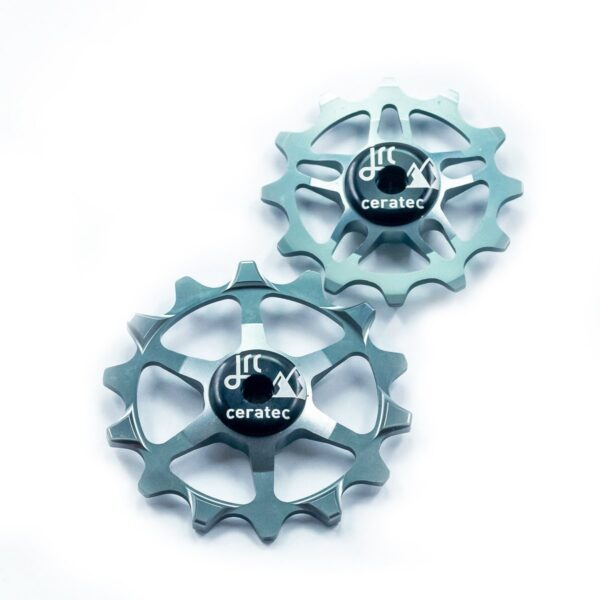 Kółka ceramiczne przerzutki JRC Components 14/12T do SRAM Eagle - szare /gunmetal/
