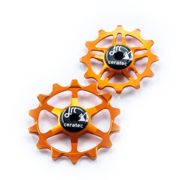 Kółka ceramiczne przerzutki JRC Components 14/12T do SRAM Eagle - pomarańczowe /orange/