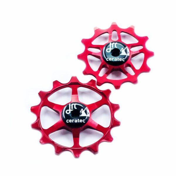 Kółka ceramiczne przerzutki JRC Components 14/12T do SRAM Eagle - czerwone /red/