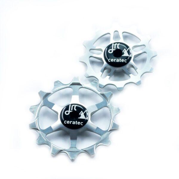 Kółka ceramiczne przerzutki JRC Components 14/12T do SRAM Eagle - srebrne /silver/